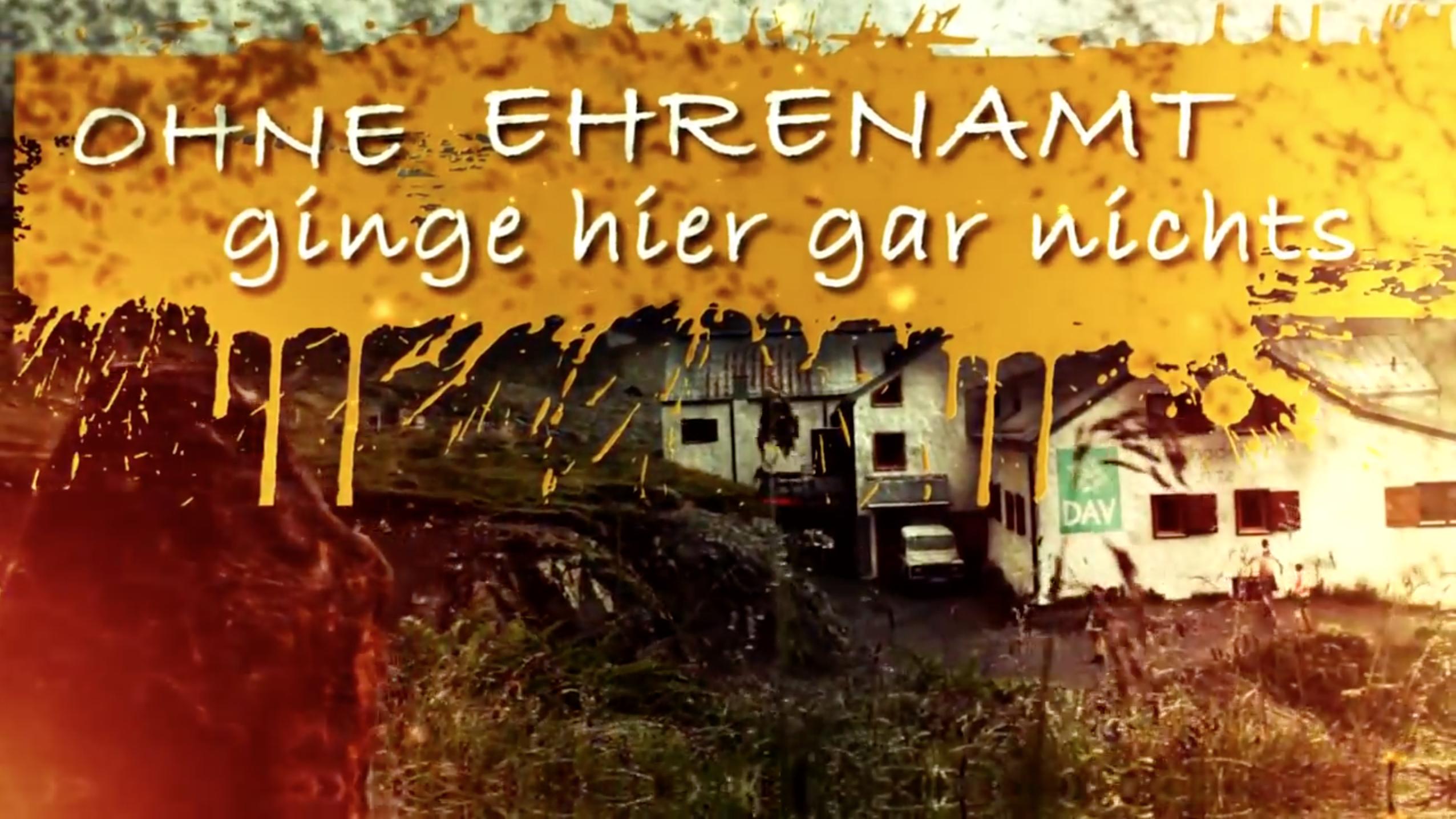 """Deutscher Alpen Verein - Film """"Ohne Ehrenamt ginge hier gar nichts"""" Blog"""