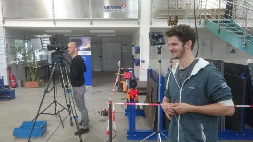 Autogentechnik Dreharbeiten bei Messer Cutting Systems_1 Blog