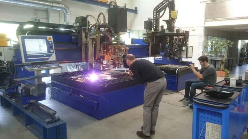 Autogentechnik Dreharbeiten bei Messer Cutting Systems_2 Blog