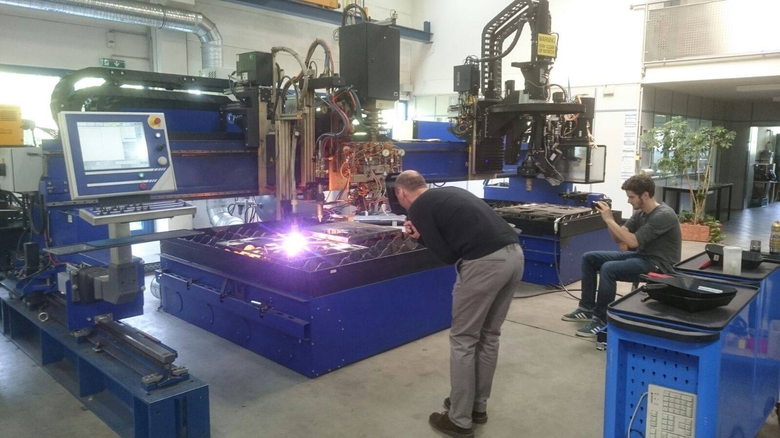 Autogentechnik Dreharbeiten bei Messer Cutting Systems_2 Blog