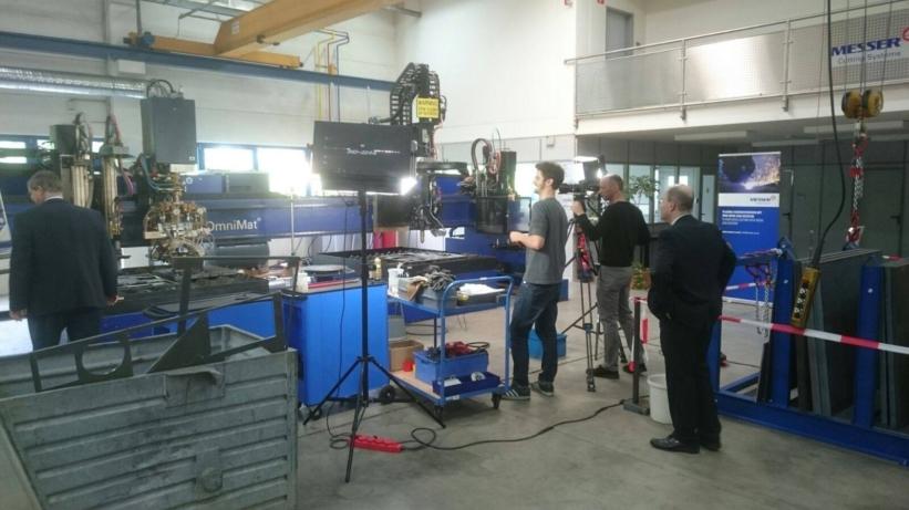 Autogentechnik Dreharbeiten bei Messer Cutting Systems_3 Blog
