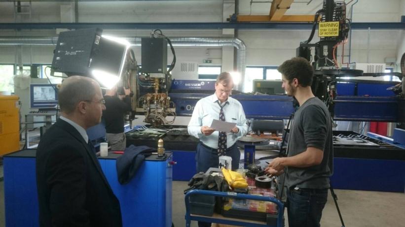 Autogentechnik Dreharbeiten bei Messer Cutting Systems_4 Blog
