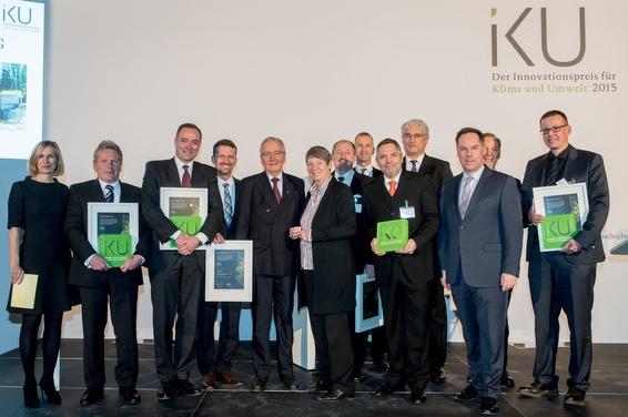 Die Preisträger des IKU 2015 (Deutscher Innovationspreis für Klima und Umwelt 2017)